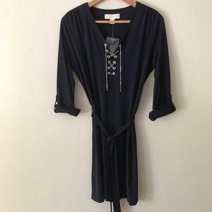 NWOT: Michael Kors Lace up Chain Dress